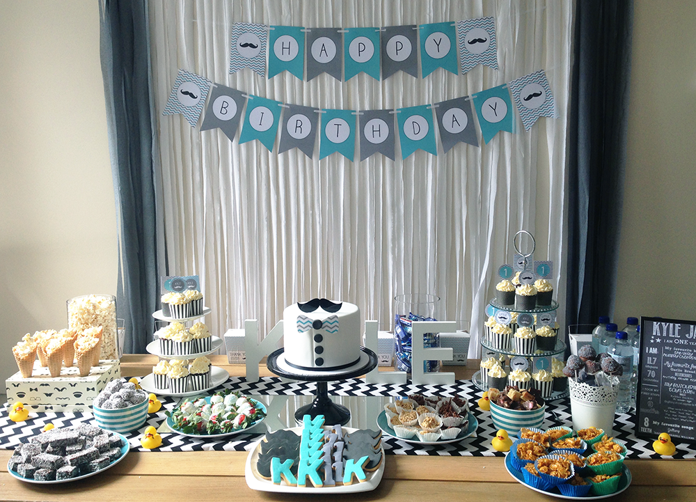 A Little Mans first birthday party My Party Design