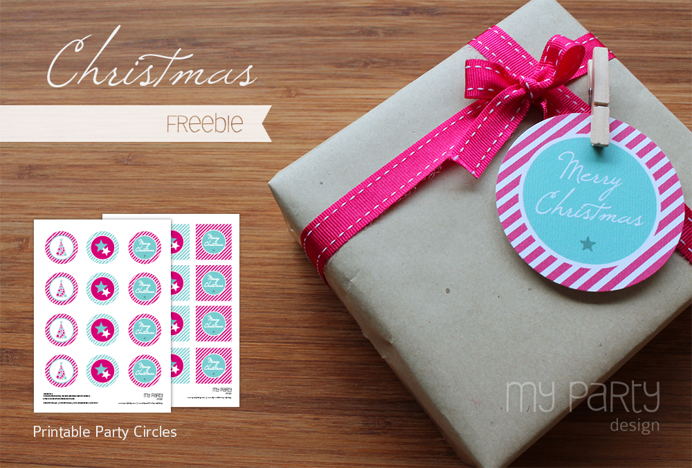 Freebie Christmas Circles