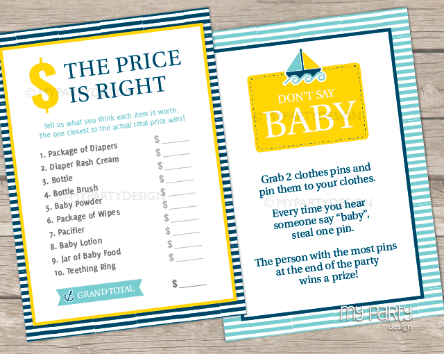 nautical baby shower printable baby shower games my party design