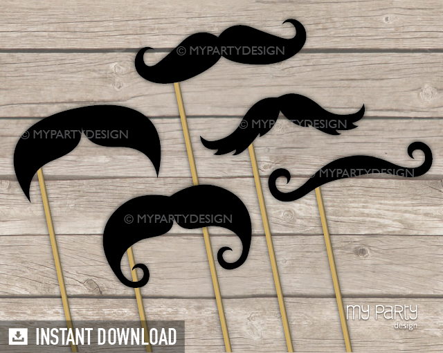 photograph regarding Printable Moustaches called Photograph Booth Props Upon a Adhere , PRINTABLE Moustaches selection