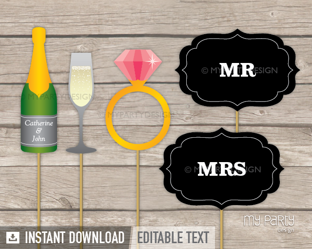 picture regarding Wedding Photo Booth Props Printable referred to as Picture Booth Props Upon a Adhere , PRINTABLE Marriage ceremony choice