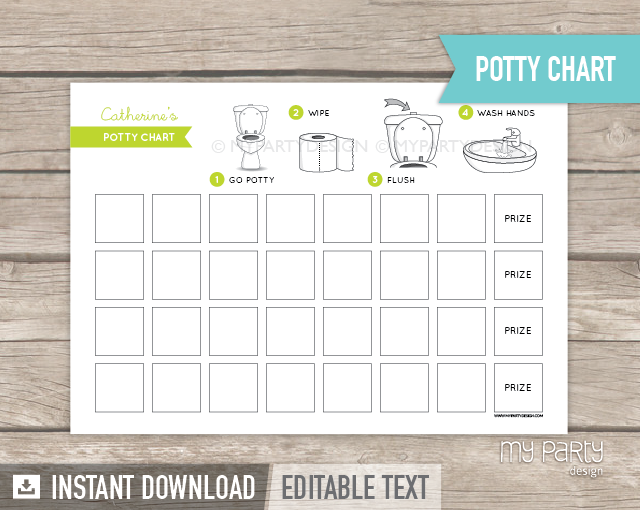 image regarding Printable Potty Chart referred to as Potty Working out Chart , PRINTABLE PDF