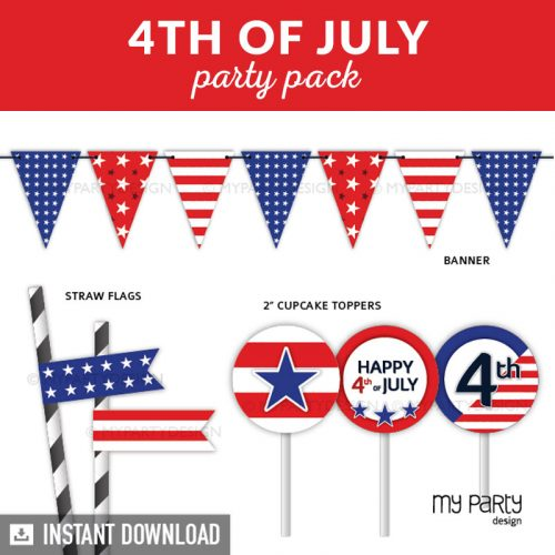 4th of July Party Printable Decorations