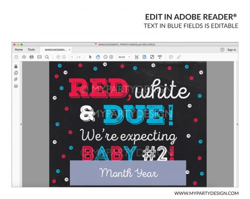 4th july pregnancy announcement sign printable