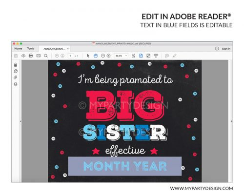 big sister 4th july pregnancy announcement sign printable