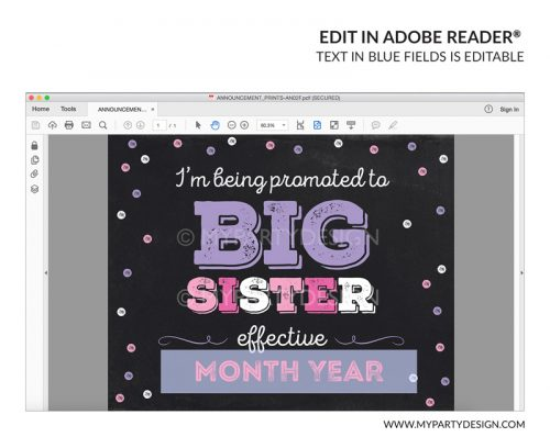 big sister pregnancy announcement sign printable
