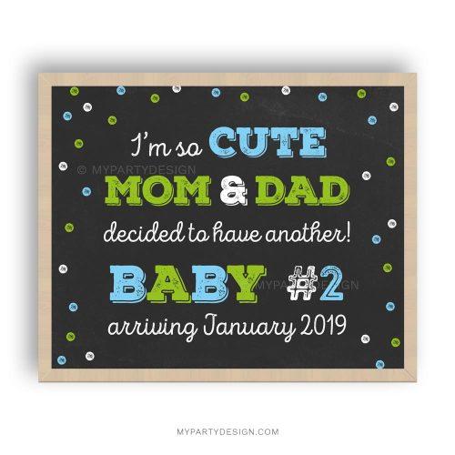 printable pregnancy announcement chalkboard print
