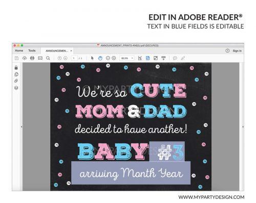 pregnancy announcement sign printable