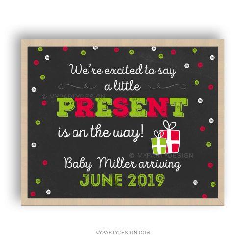 christmas printable pregnancy announcement chalkboard