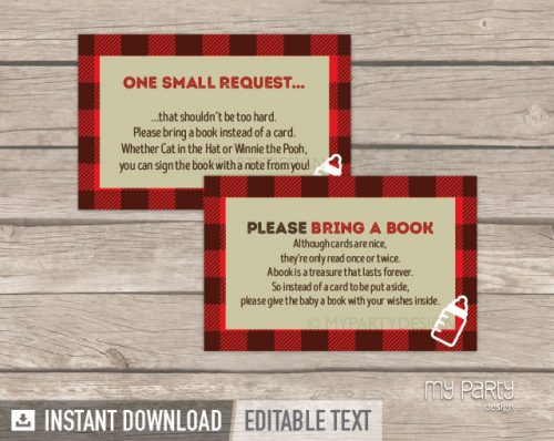 Printable Baby Q bring a book insert