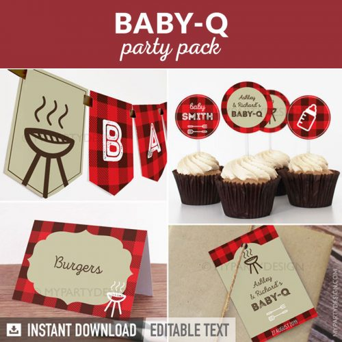 baby q baby shower party decoration printables