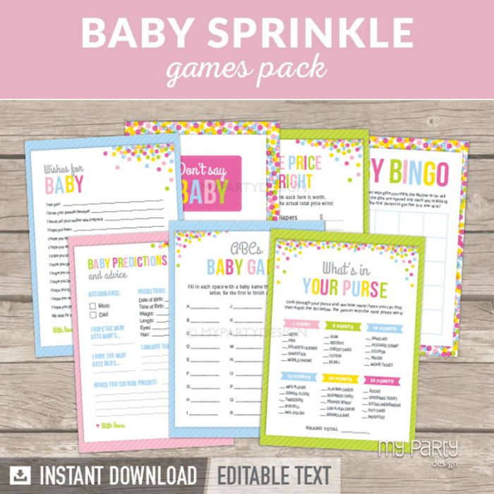 Baby Shower Games for a Baby Sprinkle Party