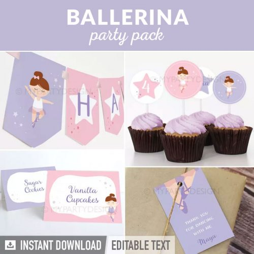 ballerina party decoration printables