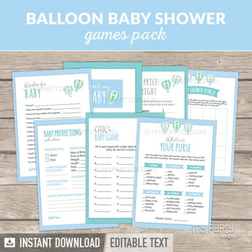 Boy Baby Shower Games Printable