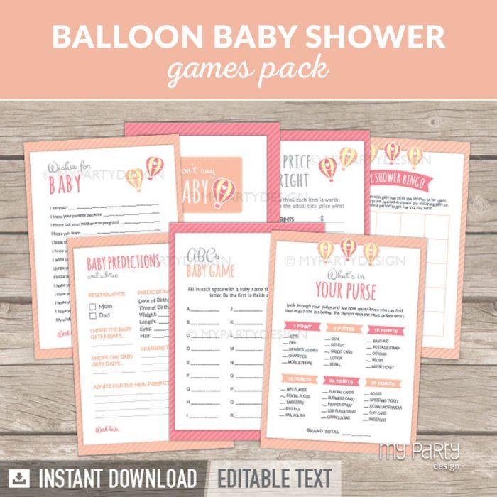 Girl Baby Shower Games Printable