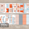 Beach / Pool party decorations, printable PDF