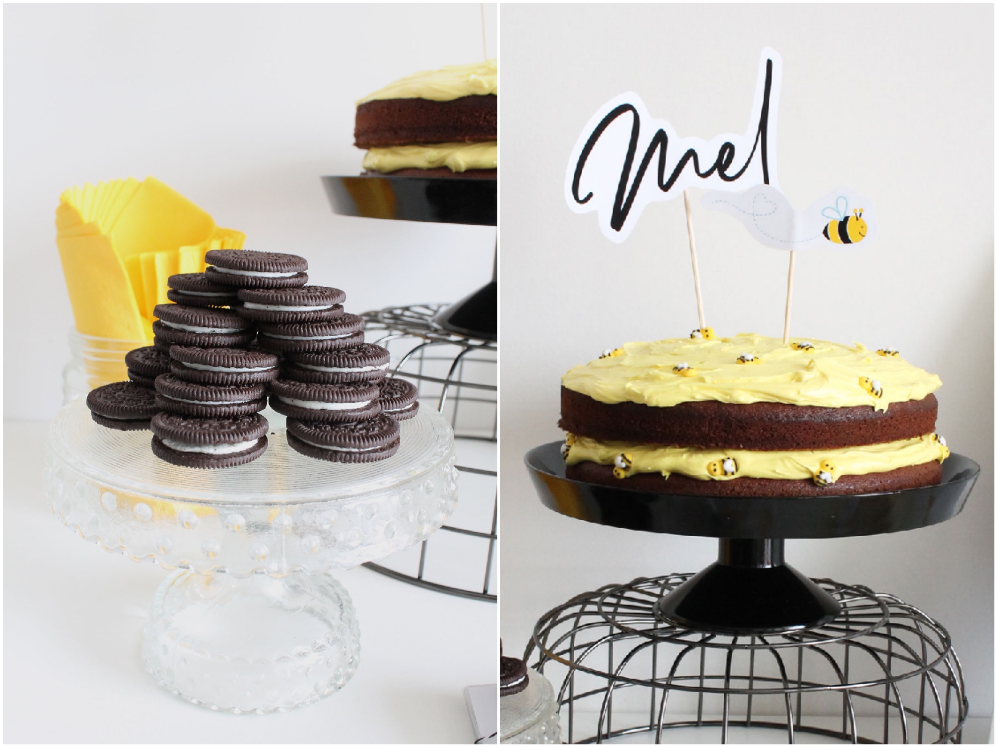 Bee Party cake topper and food ideas