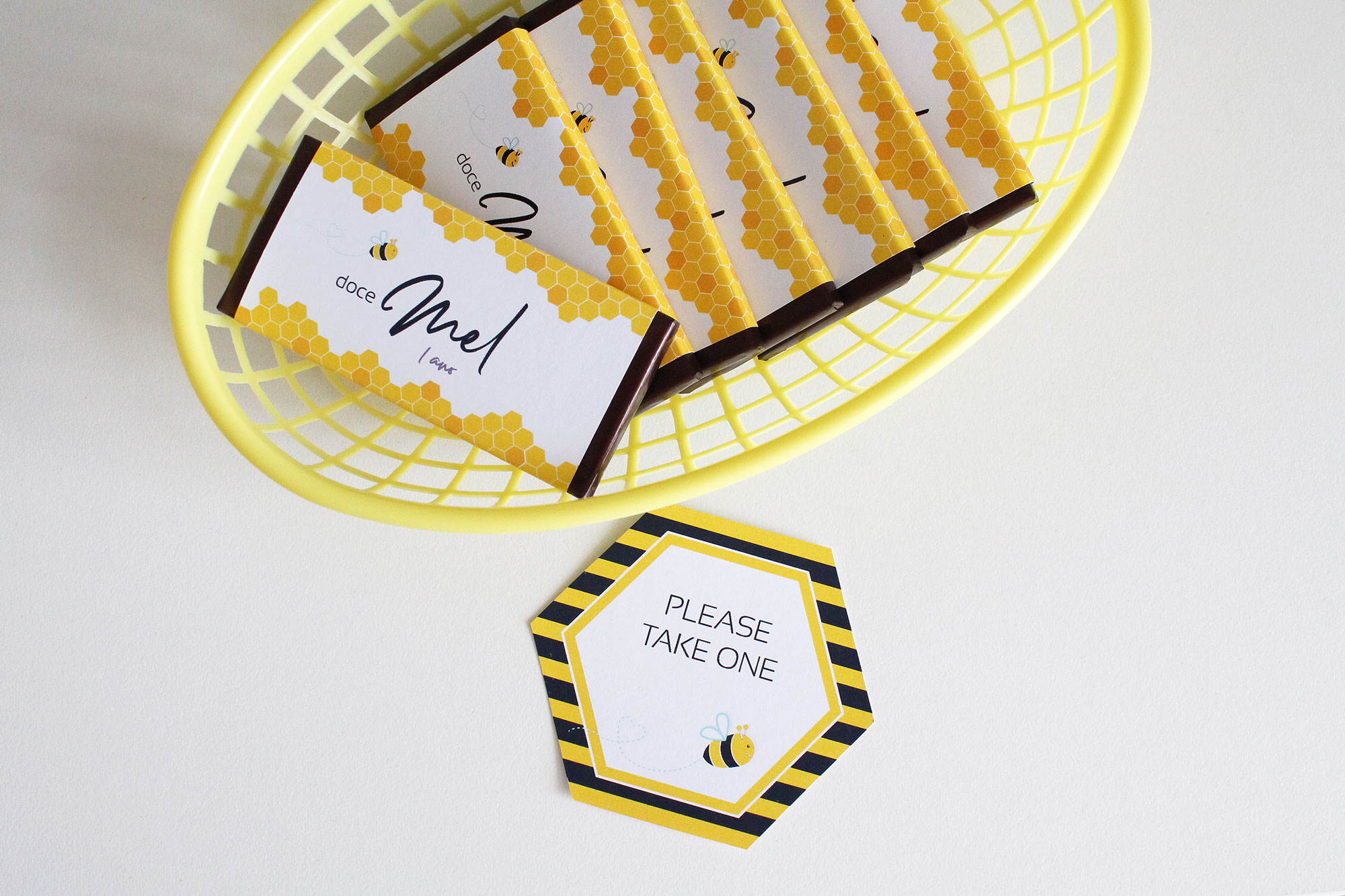 Bee Party Favors and Printable Party Decor