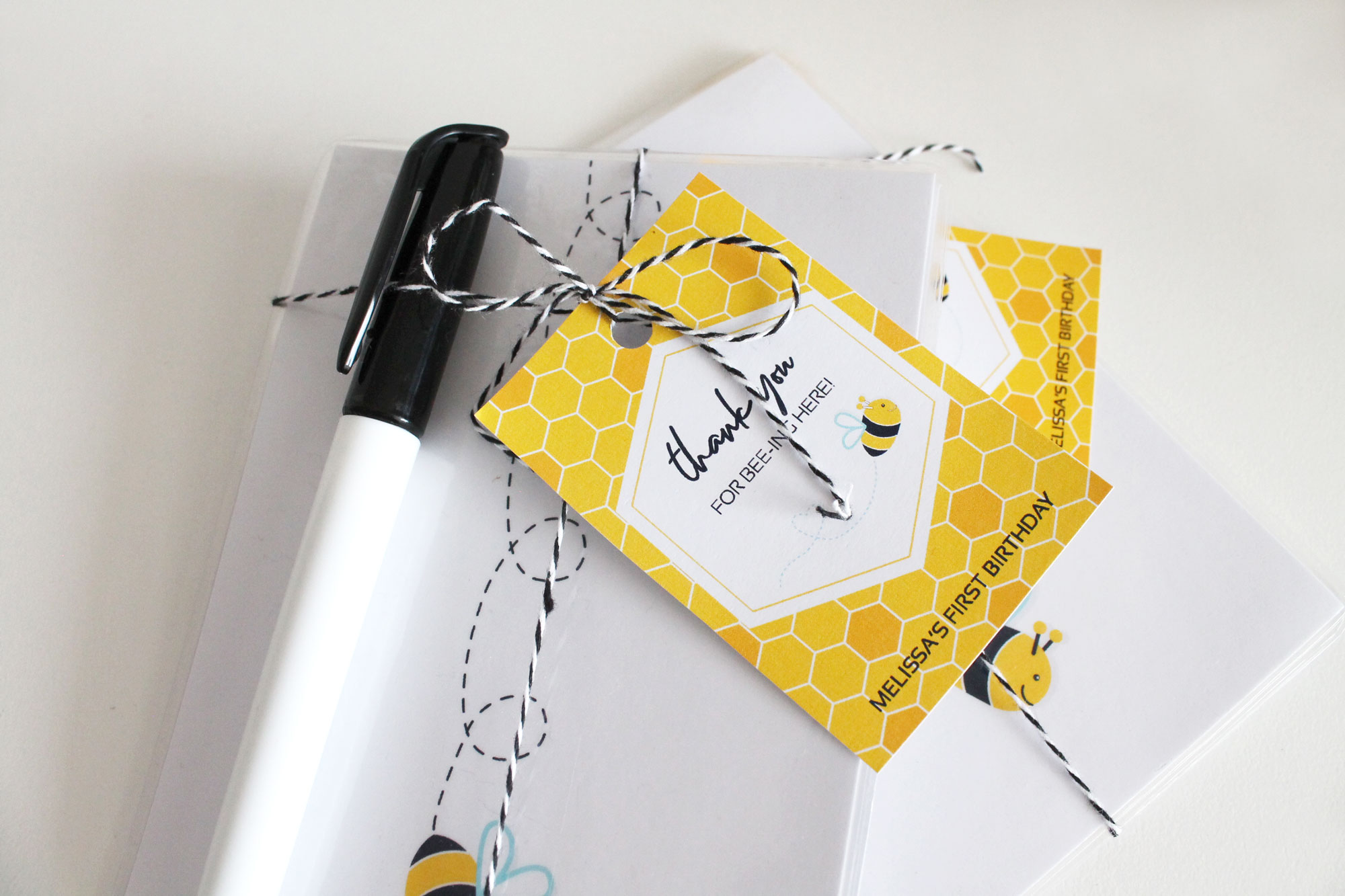 Bee Party Favors - Printable Tracing Cards
