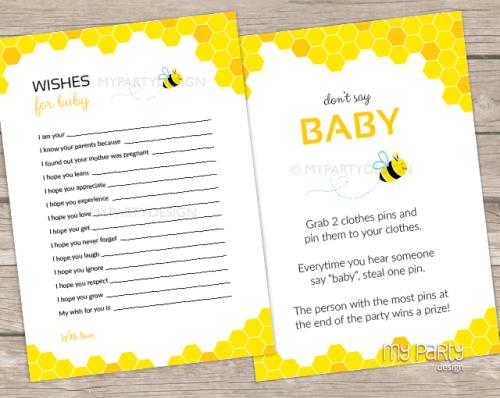 bee baby shower games