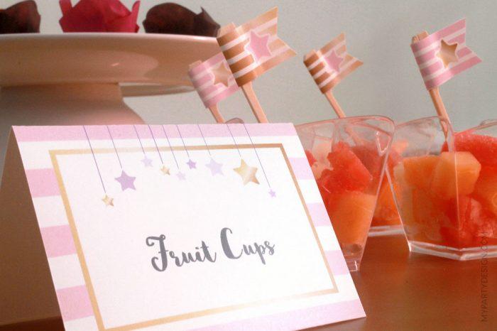 fruit cups labels