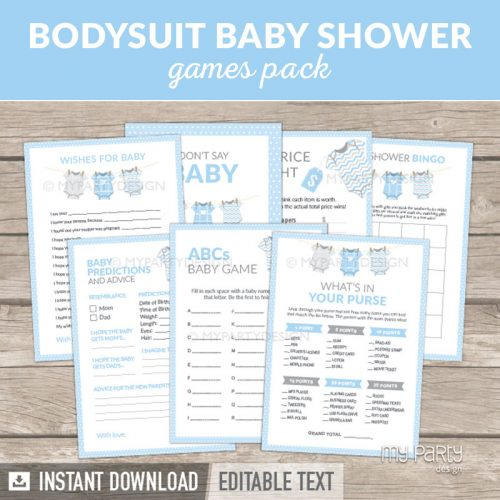 Blue Baby Shower Games Printable