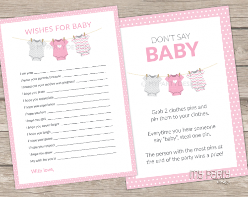 pink baby shower games