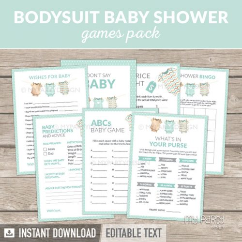 Green Baby Shower Games Printables