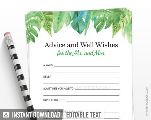 advice and well wishes for the mr and mrs