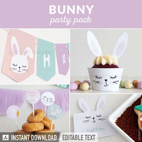 bunny party decoration printables