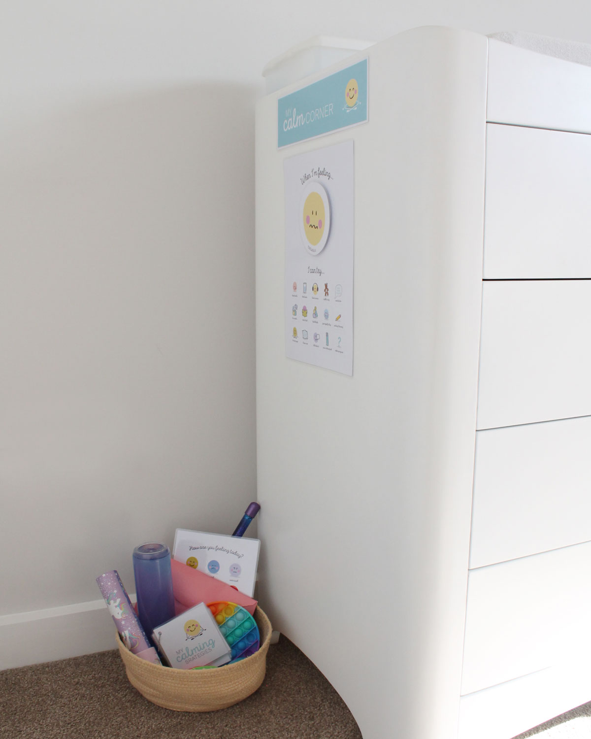 how to set up a calm corner for kids