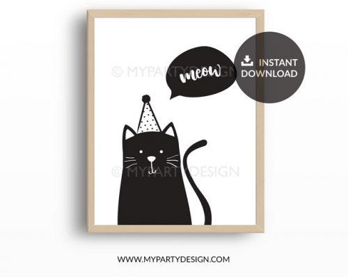 printable cat print