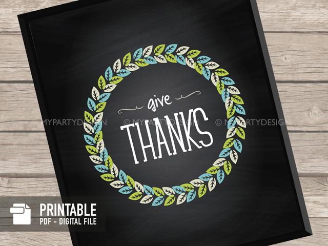 printable give thanks print