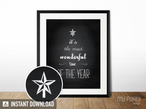 printable christmas quote print