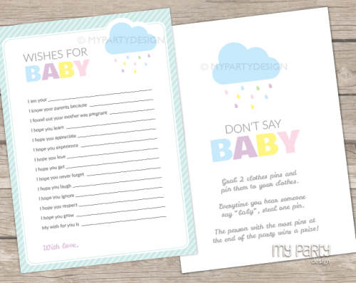 cloud baby shower games
