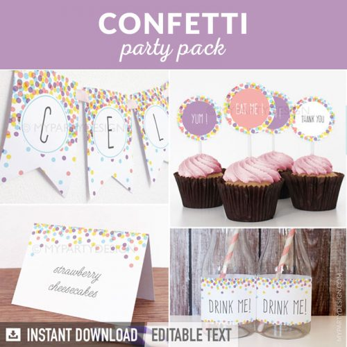 confetti party decoration printables