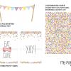 confetti party decorations