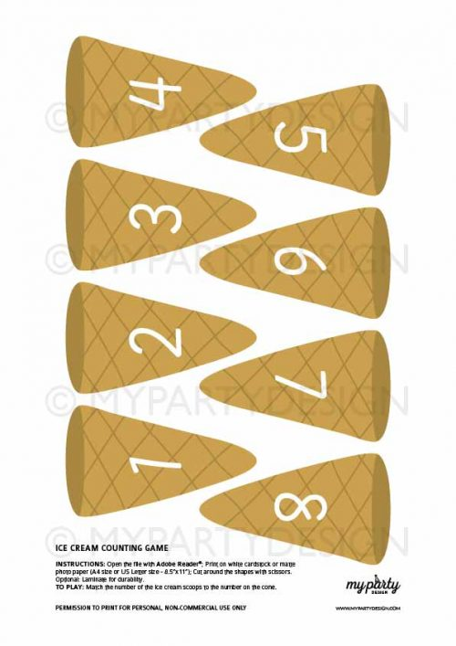 counting ice cream scoops game