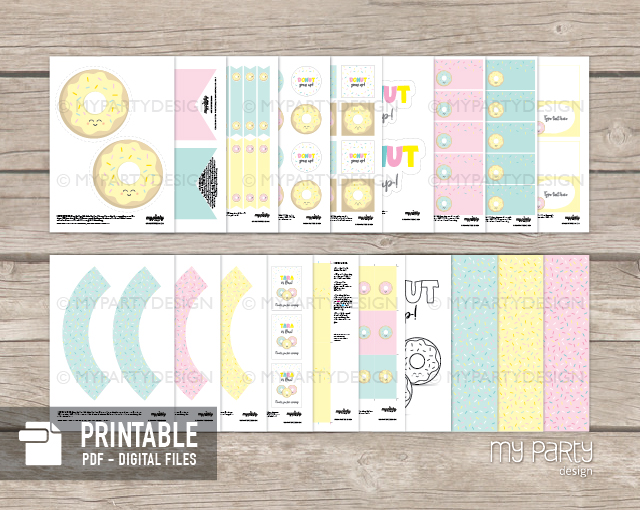 donut party printable decorations