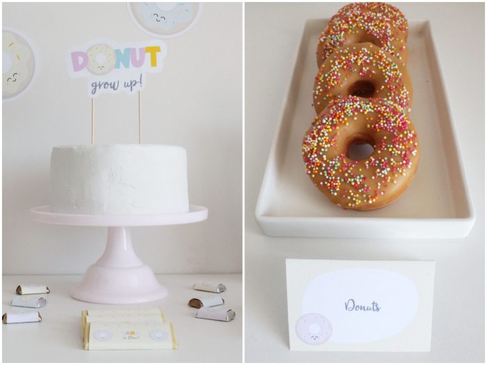 donut party cake ideas and decorations