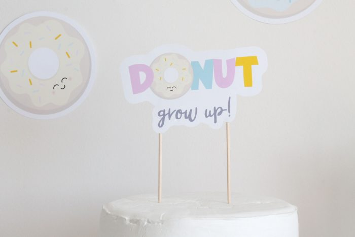 donut party cake topper