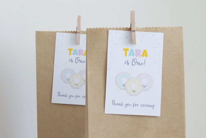 donut party favor tags