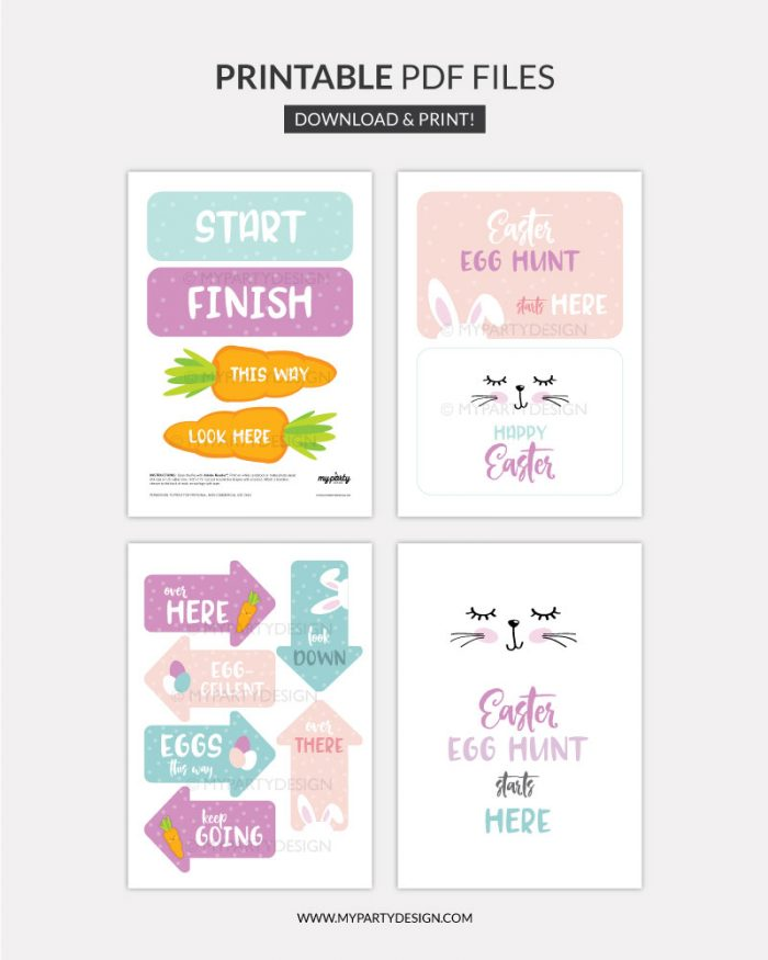 printable easter egg hunt signs for outdoor egg hunt