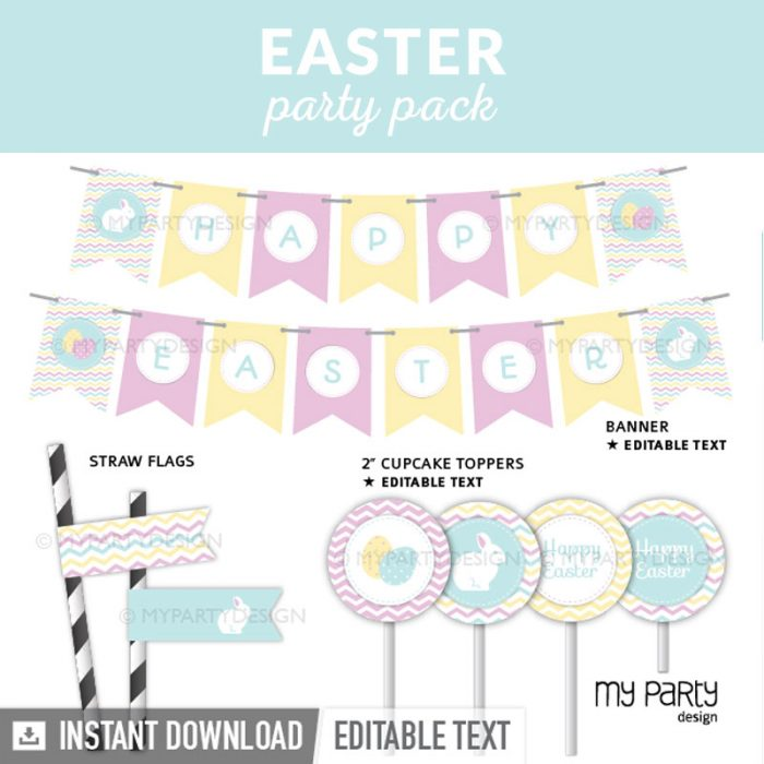 easter party decoration printables