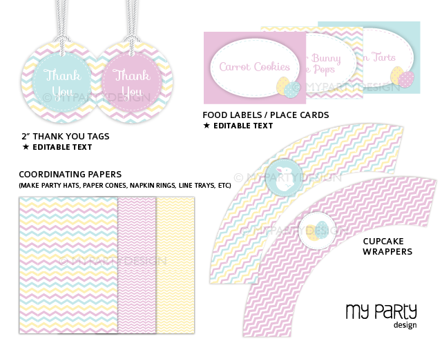 printable easter party decorations