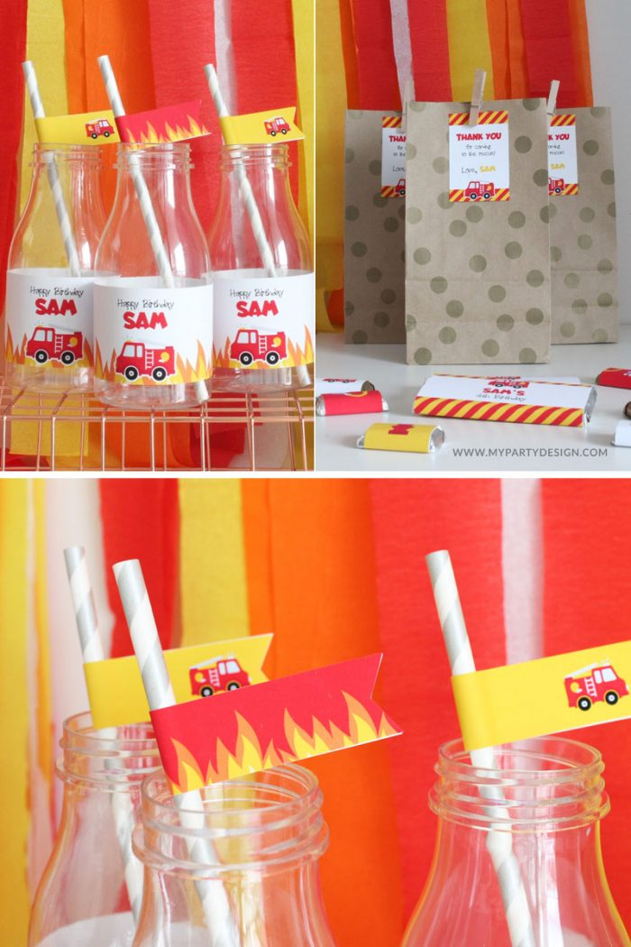 Firetruck Party Printables