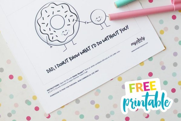 Dad, I donut know what I'd do without you - free printable fathers day card