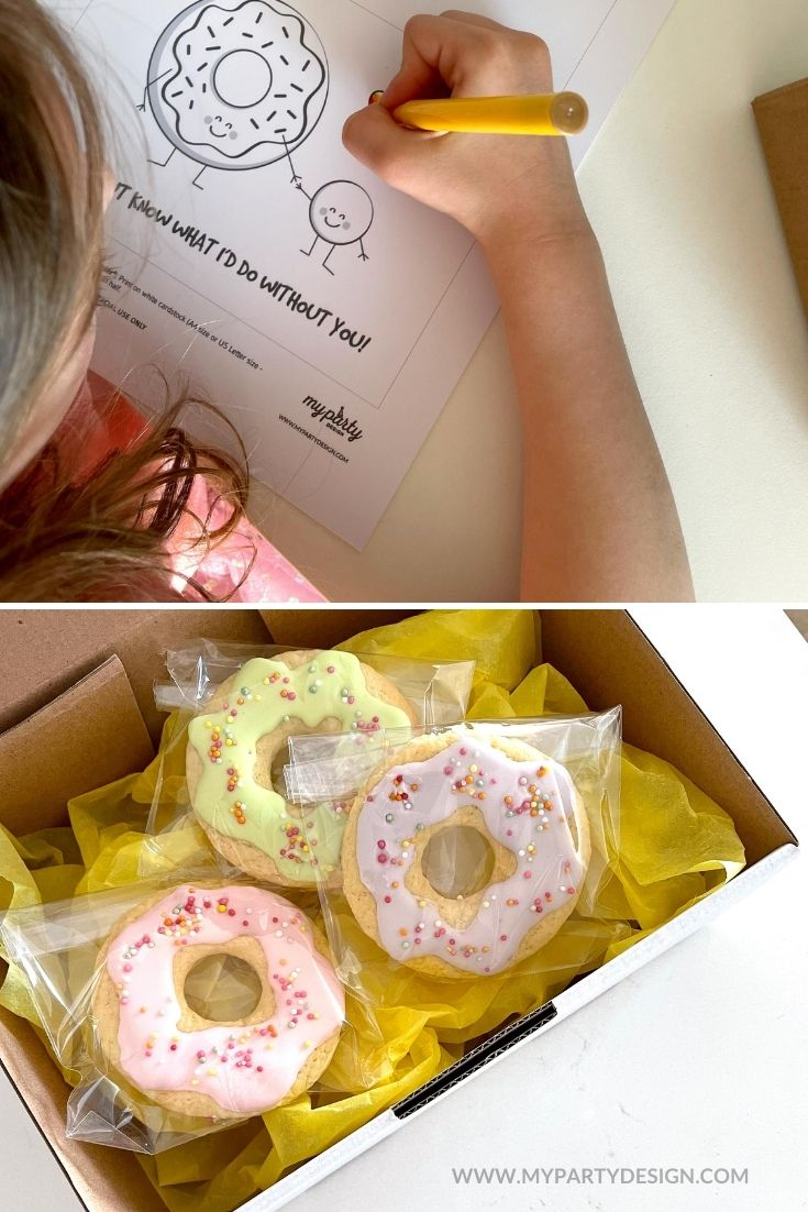 fathers day card and donuts gift