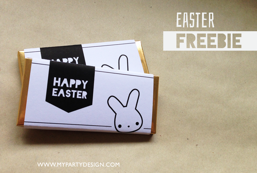 happy easter black and white chocolate wrappers free printable