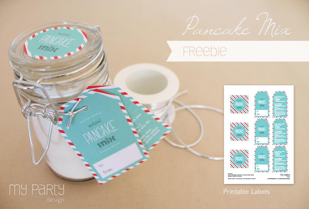 Freebie Pancake Mix Labels
